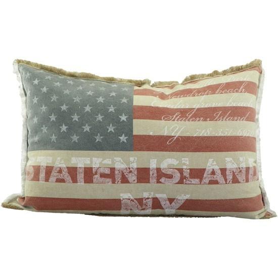 kissen stars stripes vintage look 40x60cm dunord design. Black Bedroom Furniture Sets. Home Design Ideas