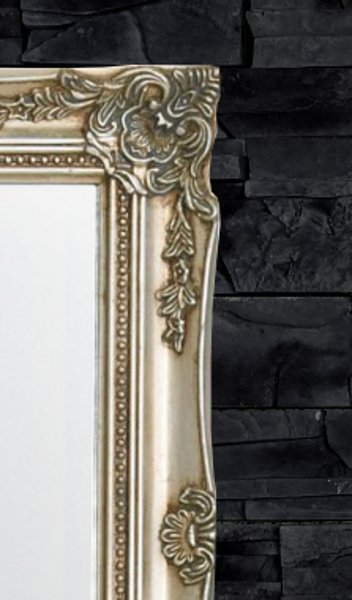 Design wandspiegel barocco silber 50x40cm - Wandspiegel design ...