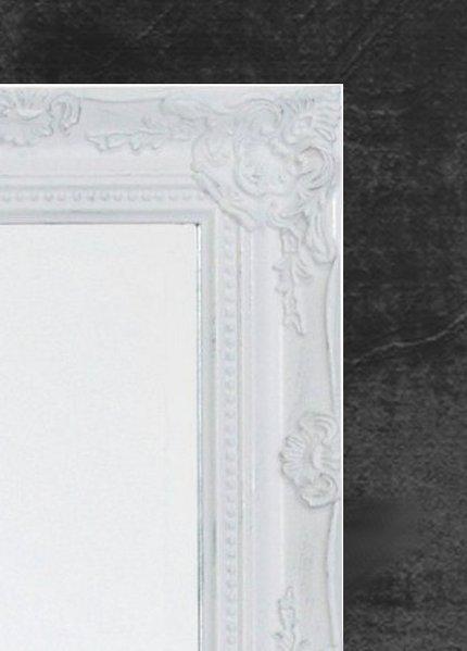 Design wandspiegel barocco weiss silber 32x27cm dunord online - Design wandspiegel ...