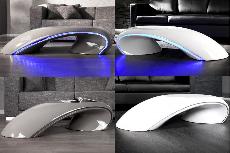 couchtisch tube m led beleuchtung design tisch lounge wohnzimmertisch farbwahl ebay. Black Bedroom Furniture Sets. Home Design Ideas